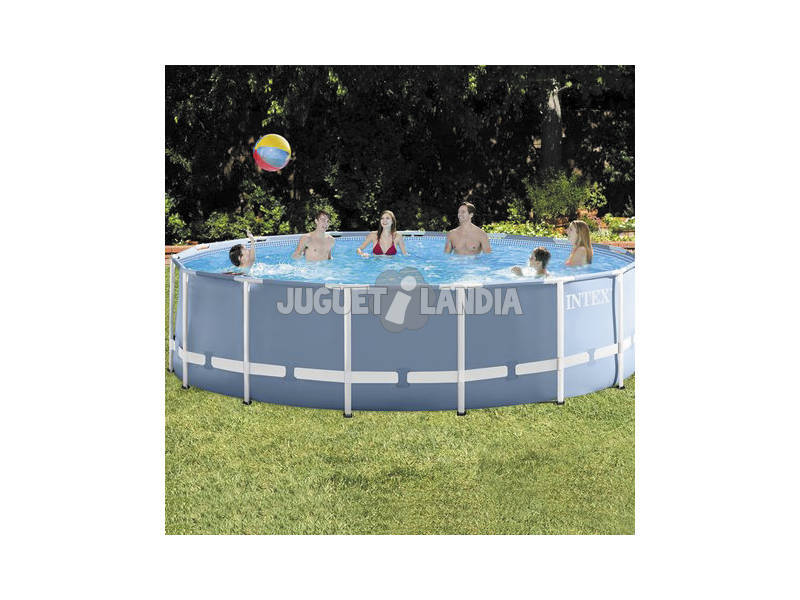 Piscina desmontable 457x122 cm intex 26736 juguetilandia for Juguetilandia piscinas desmontables