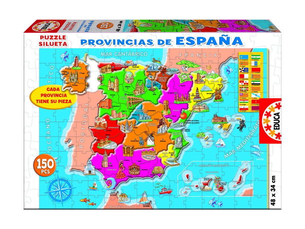 Educa Puzzle 150 Province della Spagna