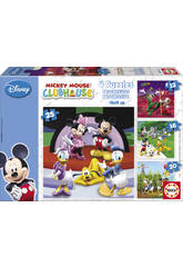 Puzzle Progresivo Mickey Mouse 12-16-20-25 Educa 15288