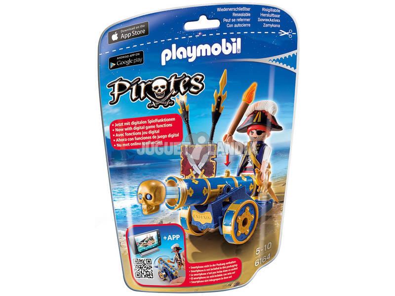 Playmobil Canhão Interactivo Azul com Pirata