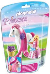 Playmobil Princesa Rosa con Caballo