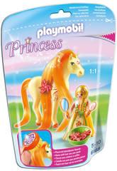 Playmobil Princesse Mimosa avec Cheval à Coiffer