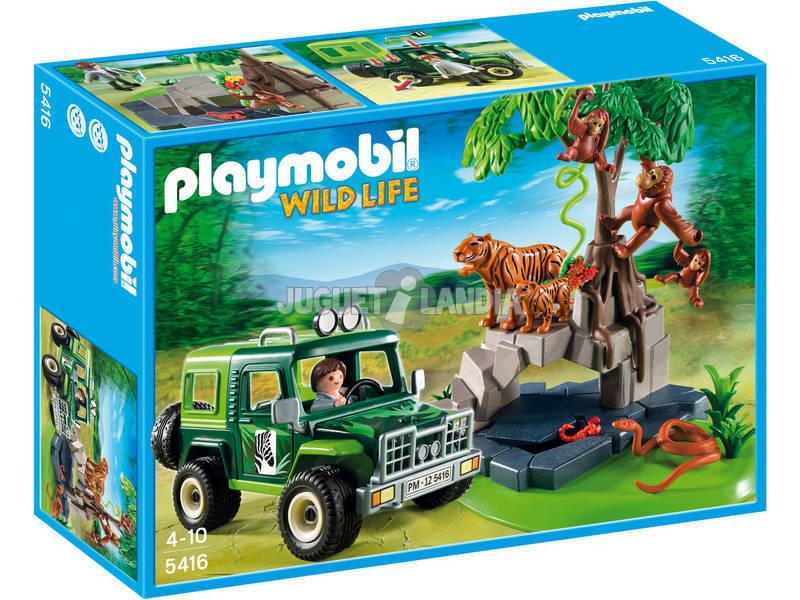 Playmobil Animales De La Jungla Con Todoterreno