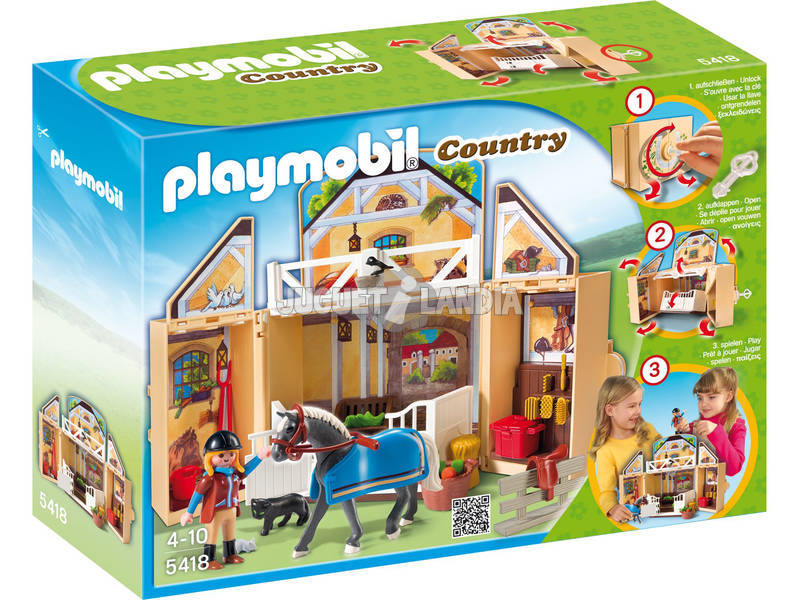 Playmobil Coffre Etable de Chevaux