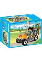 Playmobil Soigneur Animalier avec Véhicule