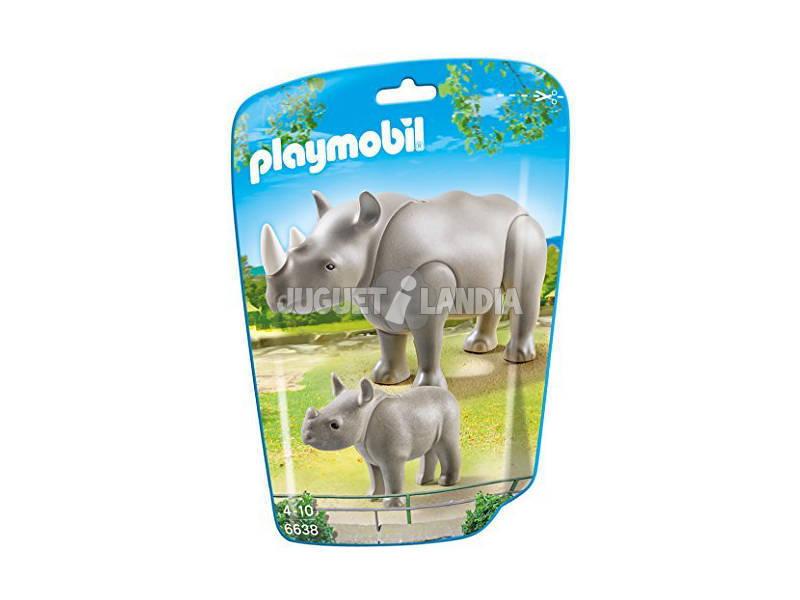 Rinoceronte Playmobil com bebê