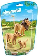 Playmobil famille de Lions