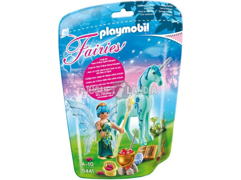 Playmobil Fata Della Salute Con Unicorno