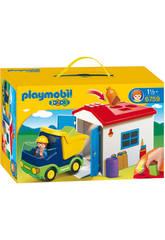 Playmobil 1.2.3 Camion Con Garaje