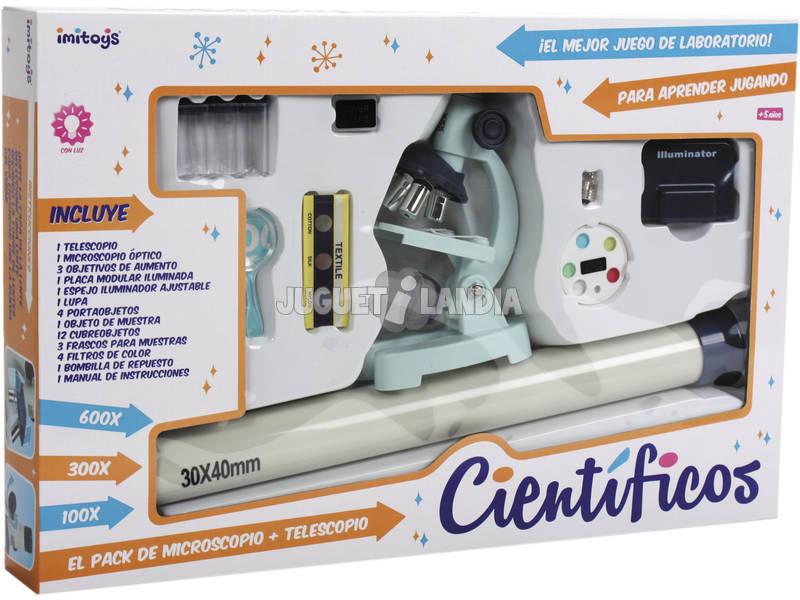Microscopio Laboratorio Kit Con Telescopio