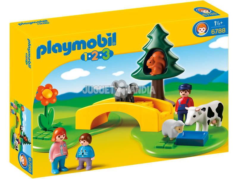 Playmobil 1.2.3 Pradera Con Sendero