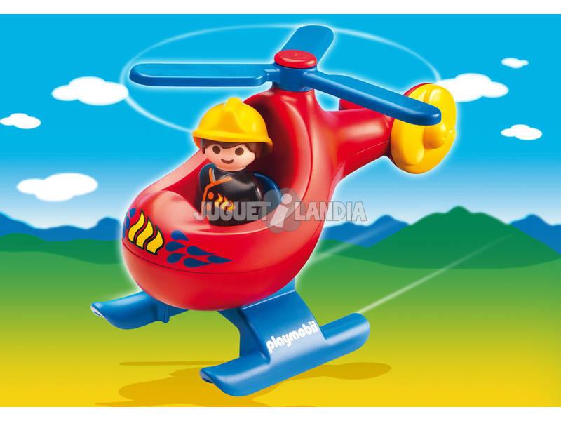 Playmobil 1.2.3 helicóptero de resgate