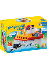 Playmobil 1,2,3 Barco Maletin