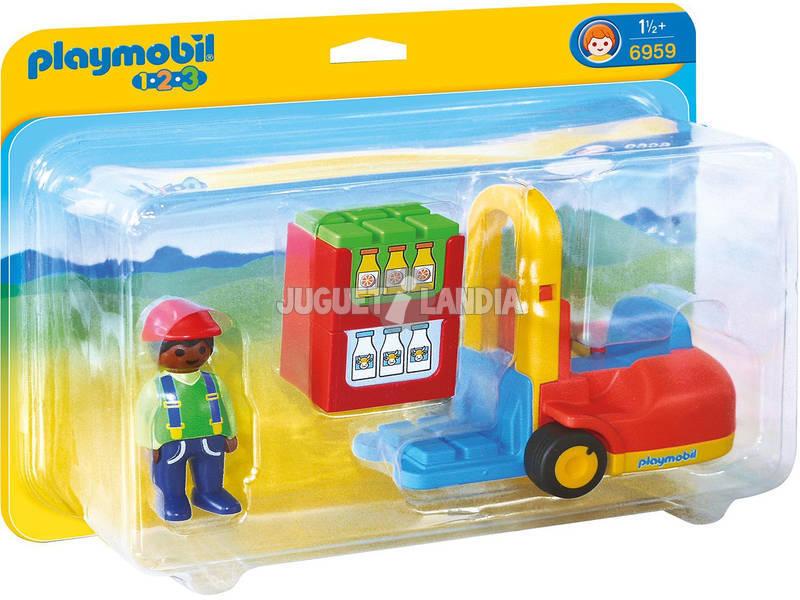 Playmobil 1,2,3 Empilhadeira