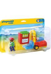 Playmobil 1,2,3 Chariot Élévateur