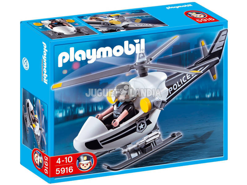 Playmobil Helicoptero de Policía