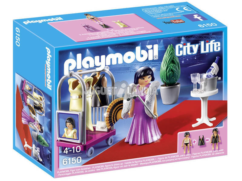 Playmobil Famosa no Tapete Vermelho