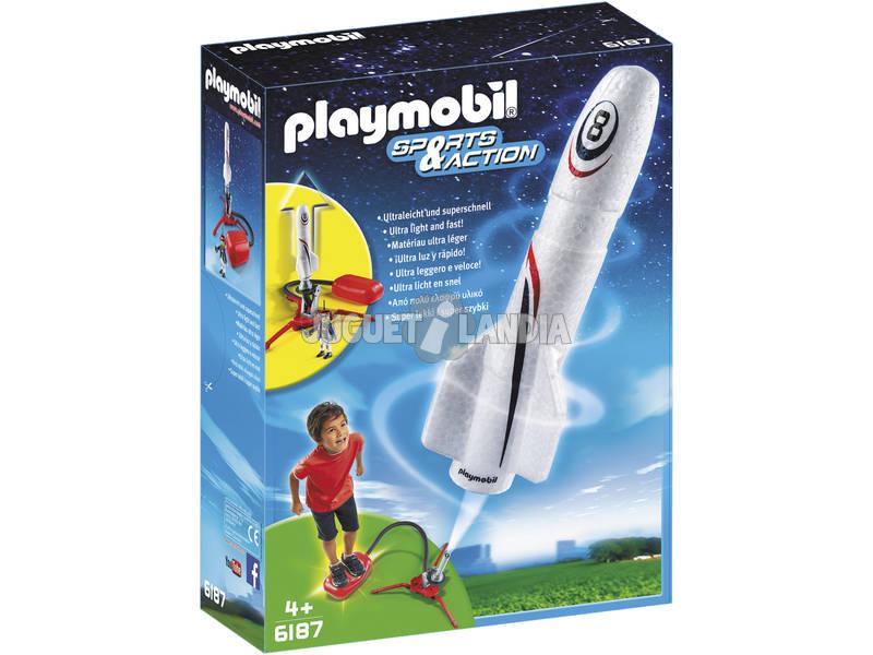 Foguete de Playmobil com hélice
