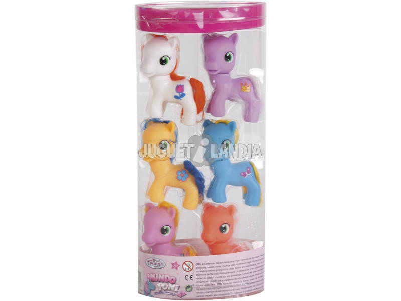 Pack Di 6 Ponys con Accessori