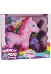 Famille de 2 Ponys Mère et Fille Avec Accessoires