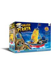 Bateau Pirates Avec 3 Figurines