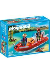 Barco Inflável Playmobil com Exploradores