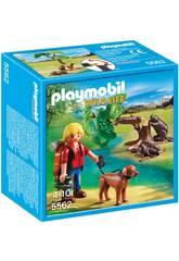 Playmobil Castores com Mochileiro