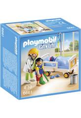 imagen Playmobil Doctor con Niño