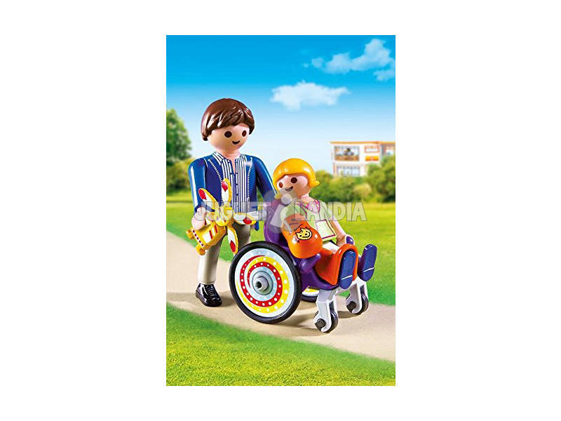 Acheter playmobil enfant en chaise roulante juguetilandia for Acheter chaise roulante