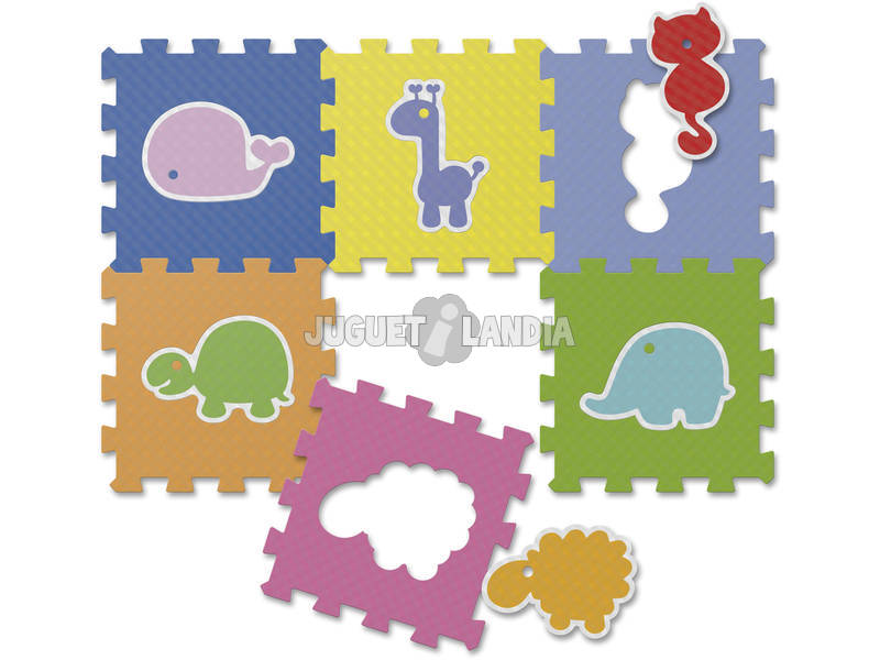 Puzzle Animales 6 piezas