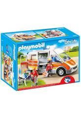 imagen Playmobil Ambulancia con Luces y Sonido 6685