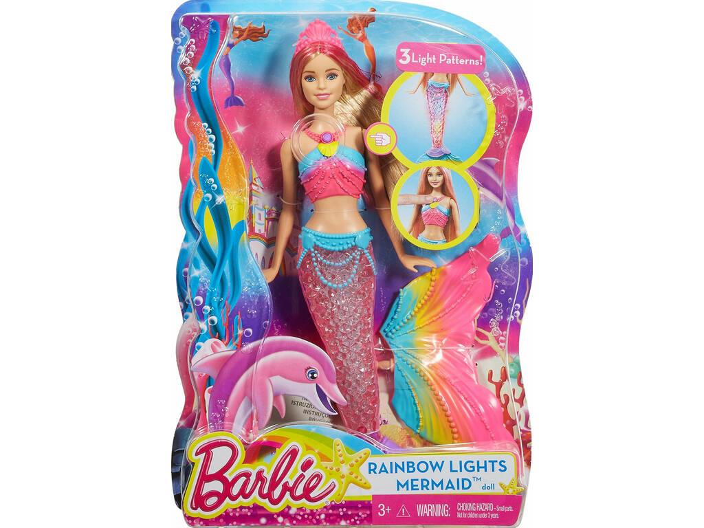 Barbie Sereia Luzes de Arco Íris