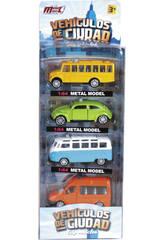 Vehículos Ciudad 1:64 Set 4 unidades