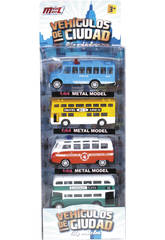 Autobus 1:64 Set 4 unidades