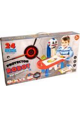 Escritorio con Proyerctor Robot 24 Plantillas