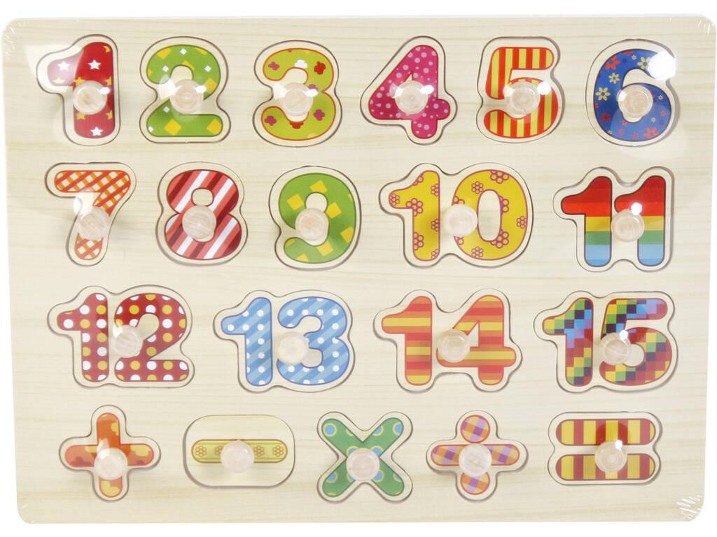 Puzzle Madera Números y Signos