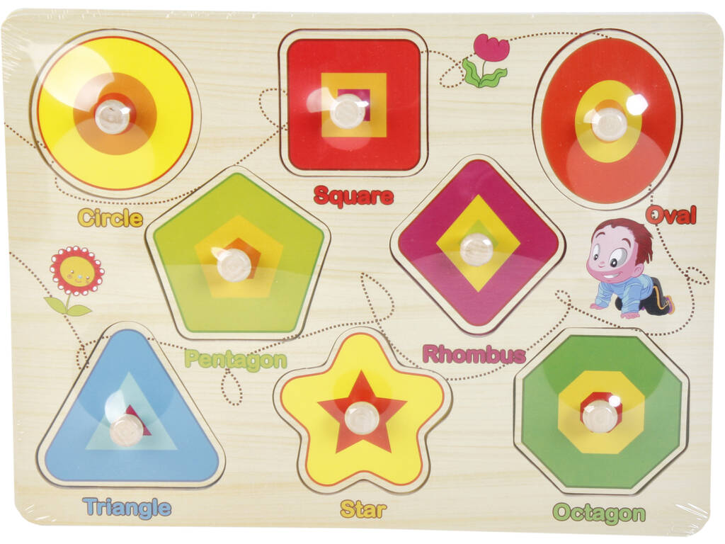 Puzzle Madera Formas