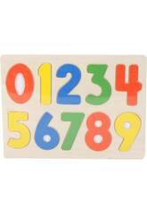 Puzzle Madeira Números 10 Peças 1x30x23cm