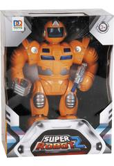super Orange Roboter Lichter und Sounds 25x19x7cm