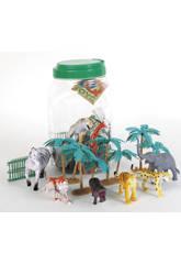 Animales Granja Bote 42 piezas