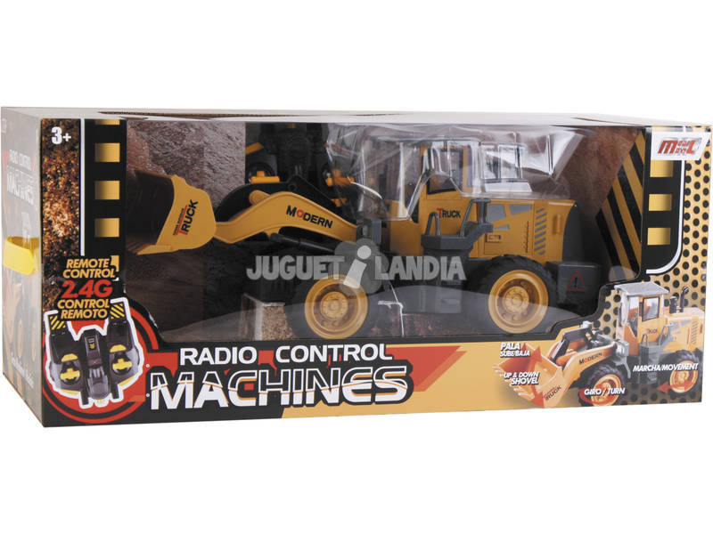 Rádio Controlo Veículo Construção Pá Carregadora