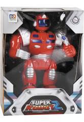imagen Super Robot Rojo Luces y Sonidos 25x19x7cm