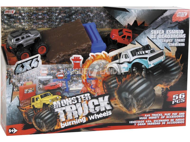 Super Estadio de Acrobacias Monster Truck