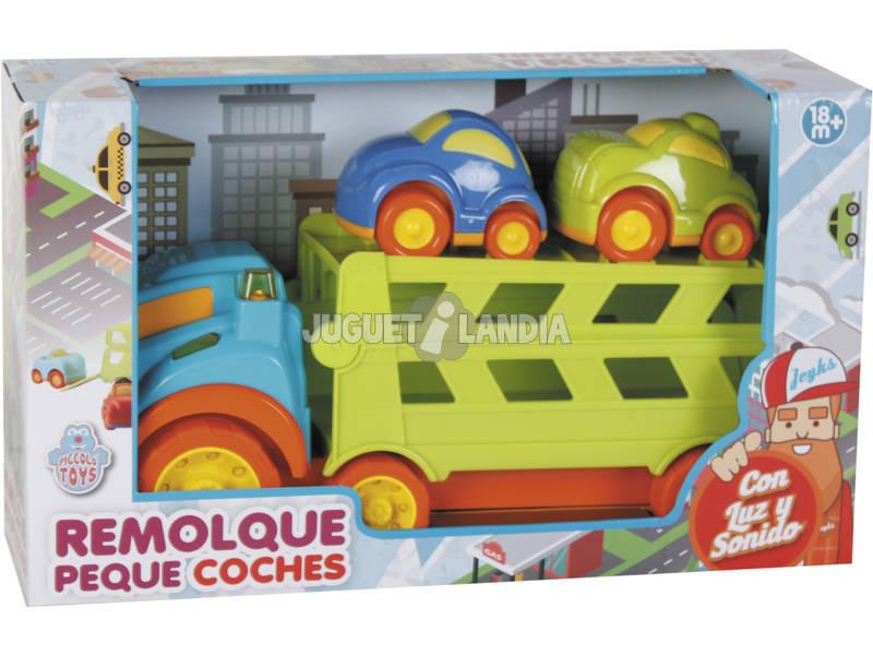 Caminhão de Transporte com 2 Veículos Leves e Sons