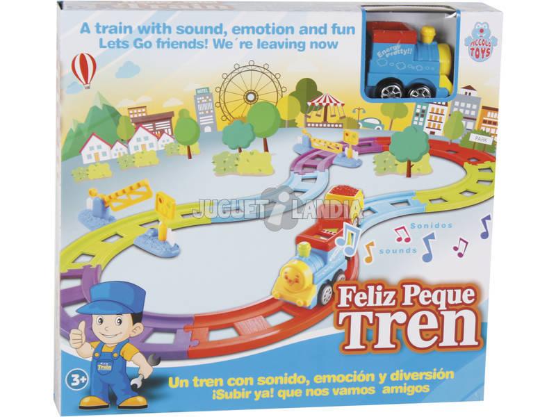 Circuito Azul de Trem Peque Feliz com Sons