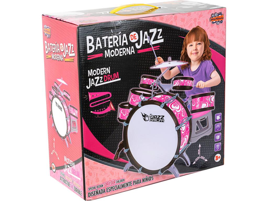 Bateria Rosa Jazz 5 Tambores y Platillos