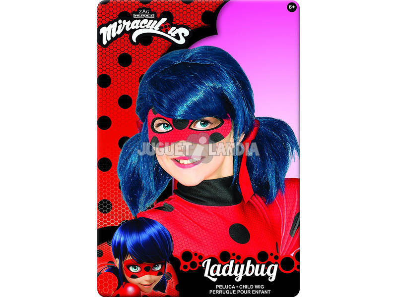 Peruca Miraculous Ladybug Infantil Rubies 32929