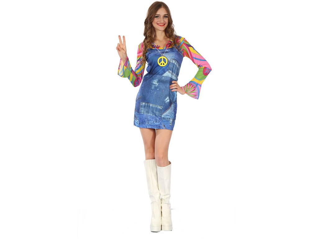 Disfraz Hippie Vaquera Mujer Talla S