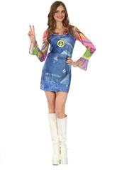 imagen Disfraz Hippie Vaquera Mujer Talla S
