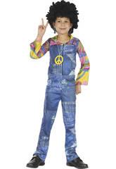 Déguisement Hippie Imitation Jean's Taille Garçon XL